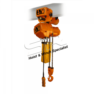 Single Speed 2 Ton Chain Hoist With Motorized Trolley (10 Mtrs)
