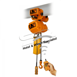 Single Speed 1 Ton Chain Hoist With Motorized Trolley & Remote Control (5mtrs)