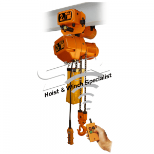 Single Speed 2 Ton Chain Hoist with Motorized Trolley with Remote Control (5 Mtrs)