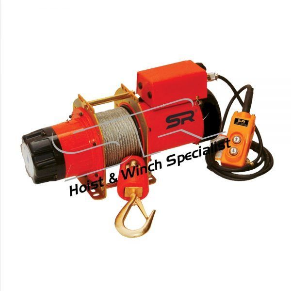 SR 500kg Electric Winch 195 mtrs(Single Phase)