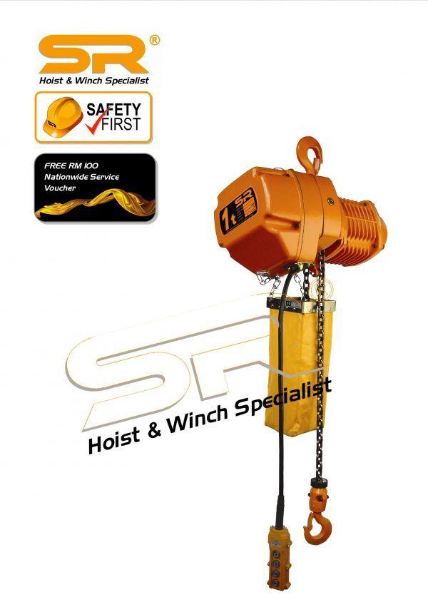 Single Speed 1 Ton Chain Hoist (5 Mtrs)
