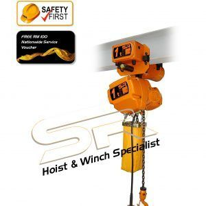 Single Speed 1 Ton Chain Hoist With Motorized Trolley (5 Mtrs)