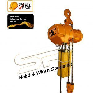 Single Speed 2 Ton Chain Hoist (5 Mtrs)