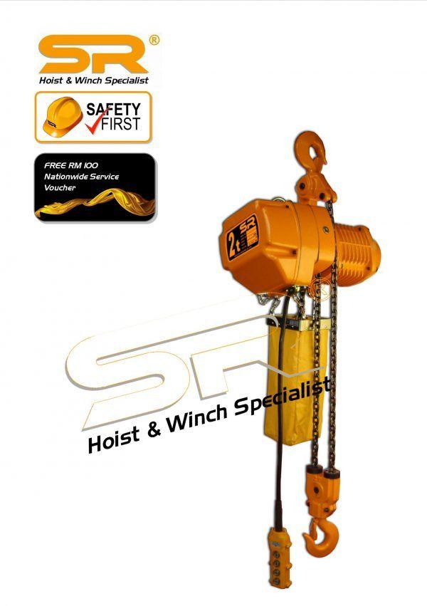 Single Speed 2 Ton Chain Hoist (5 Mtrs)