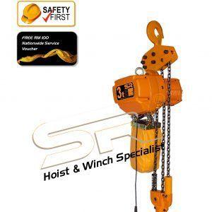 Single Speed 3 Ton Chain Hoist (5 Mtrs)