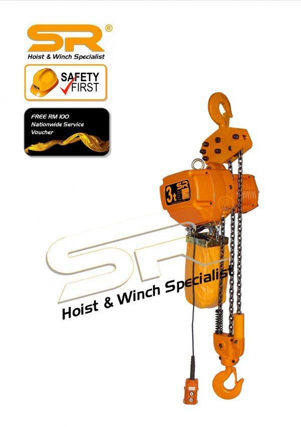Single Speed 3 Ton Chain Hoist (10 Mtrs)