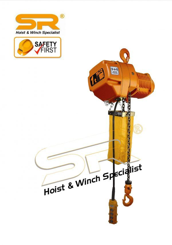 Single Speed 1 ton Chain Hoist with Overload Protection (5mtrs)